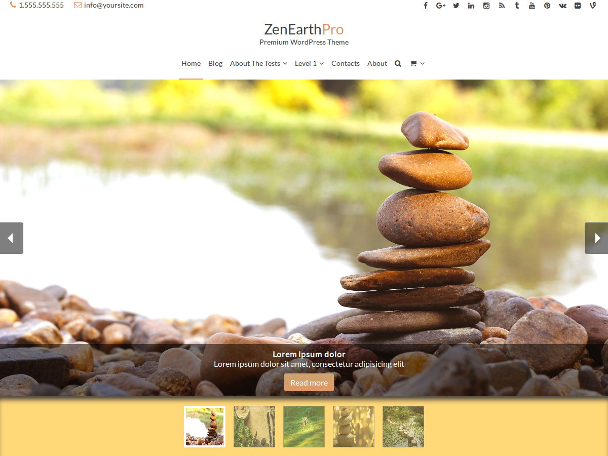 ZenEarthPro - Multi Purpose WordPress Theme