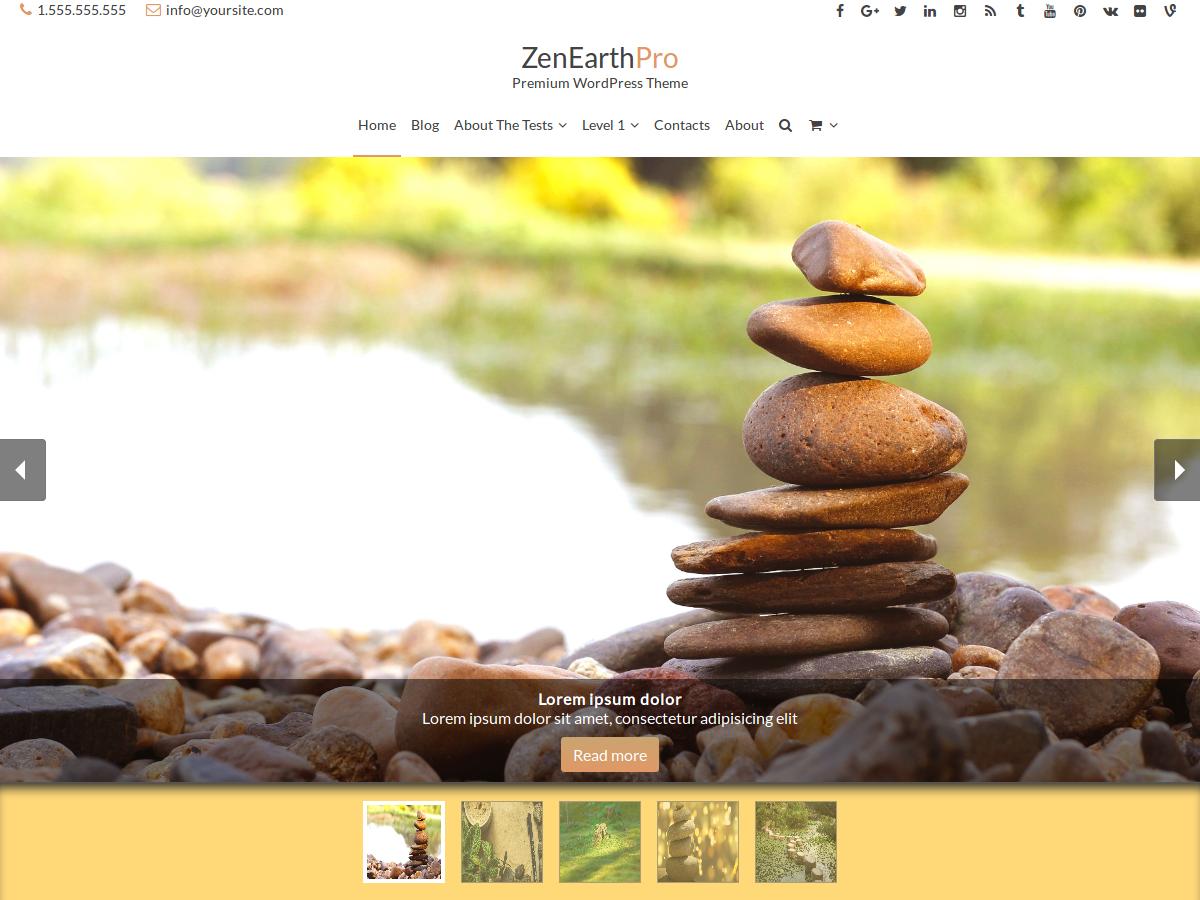 ZenEarthPro - Multi Purpose WordPress Theme