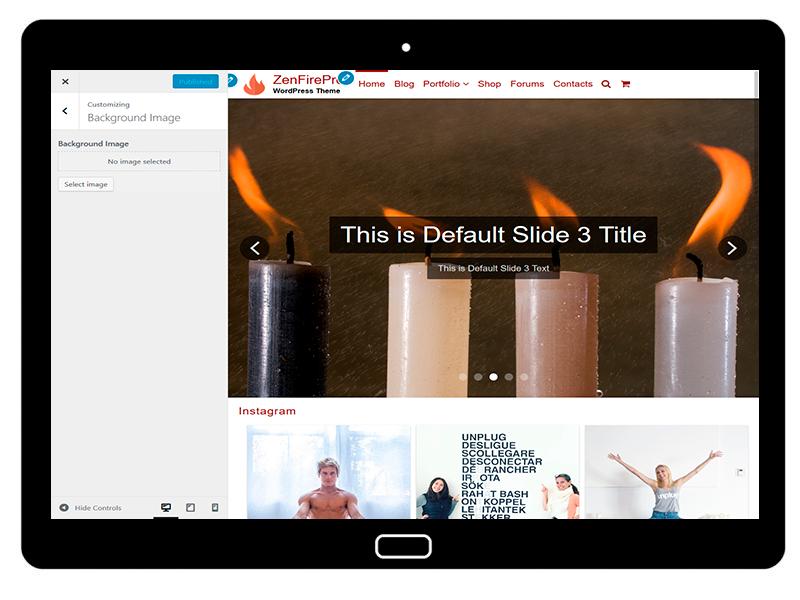 ZenFirePro Customizing Background Image