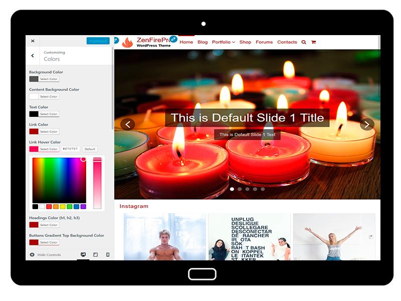 ZenFirePro Customizing Colors