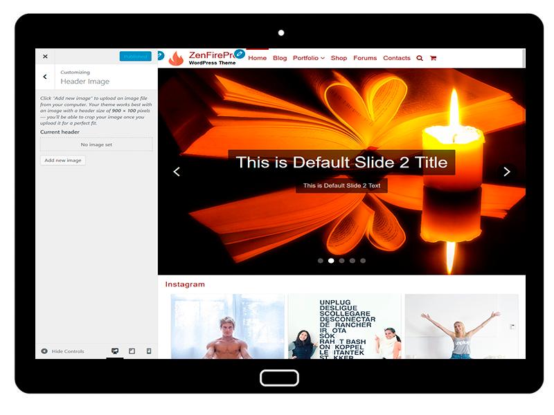 ZenFirePro Customizing Header Image