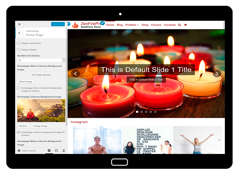 ZenFirePro Customizing Home Page