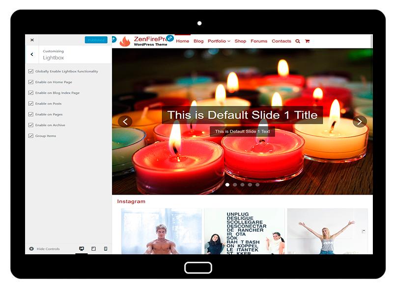 ZenFirePro Customizing Lightbox