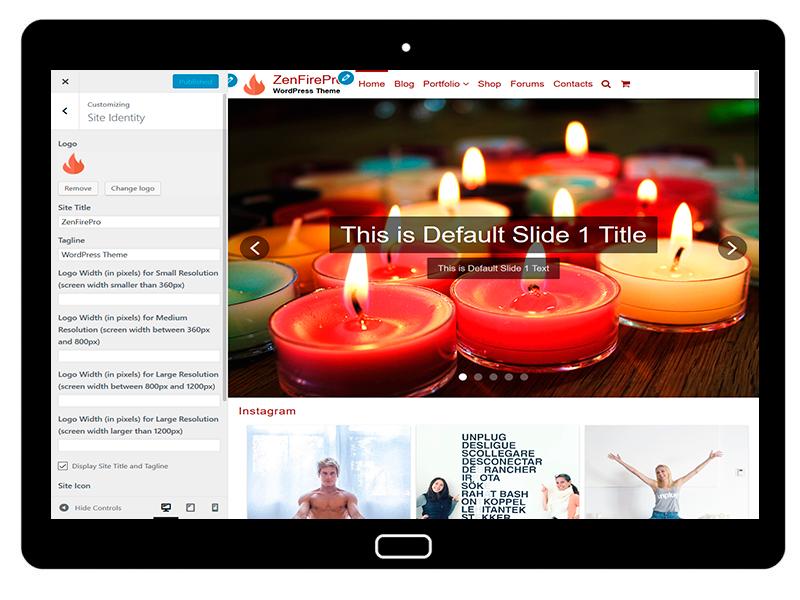 ZenFirePro Customizing Site Identity