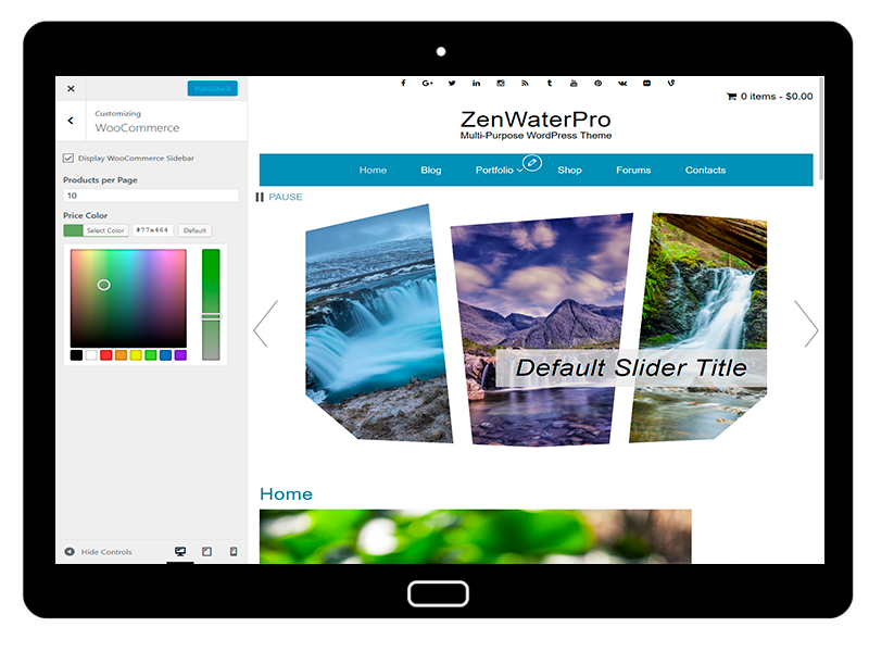 ZenWaterPro Customizing WooCommerce