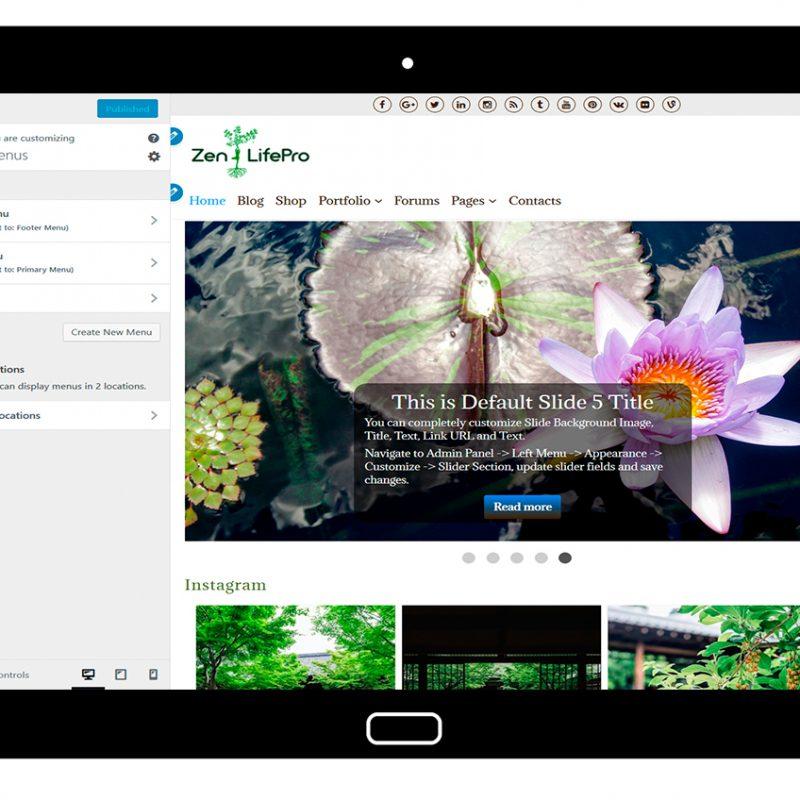 premium-wordpress-theme-zenlifepro-customize-Menus