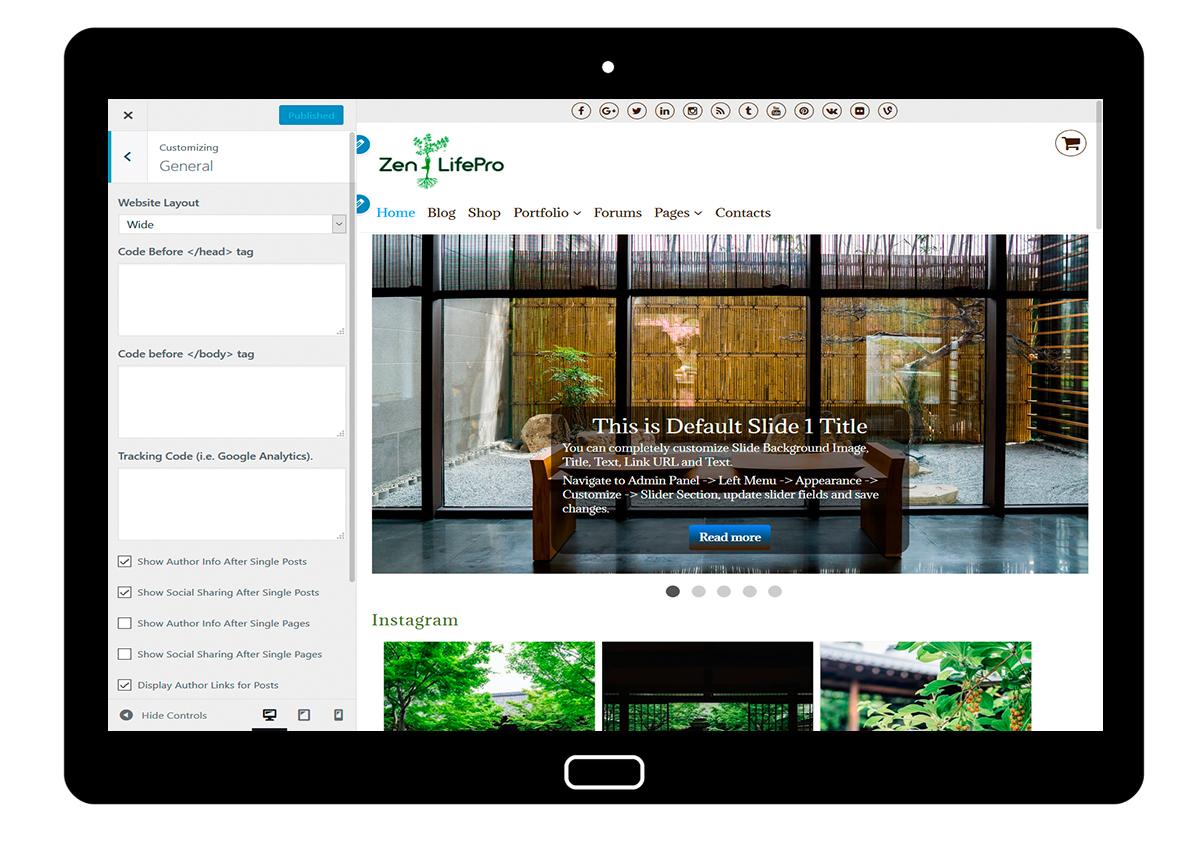 premium-wordpress-theme-zenlifepro-customize-general