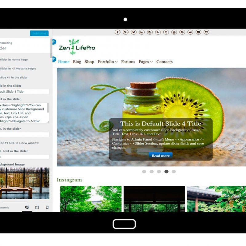 premium-wordpress-theme-zenlifepro-customize-slider