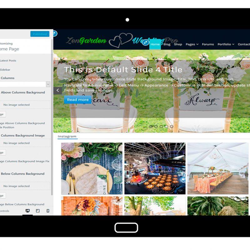 ZenGardenWedding-customizing-home-page
