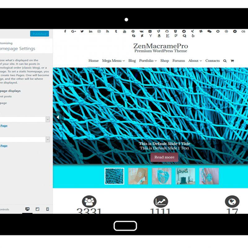 ZenMacramePro-customizing-homepage-settings