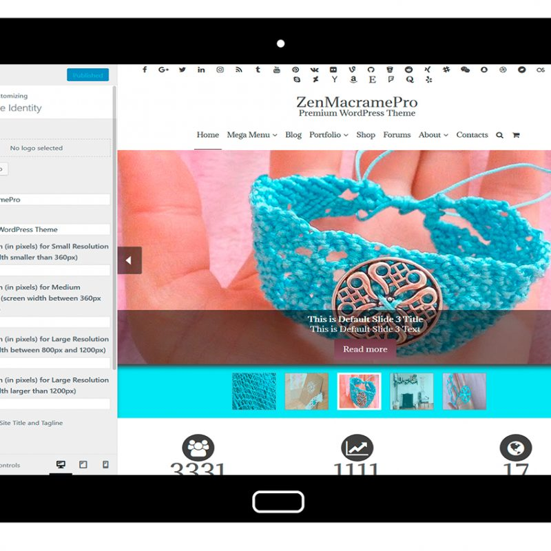 ZenMacramePro-customizing-site-identity