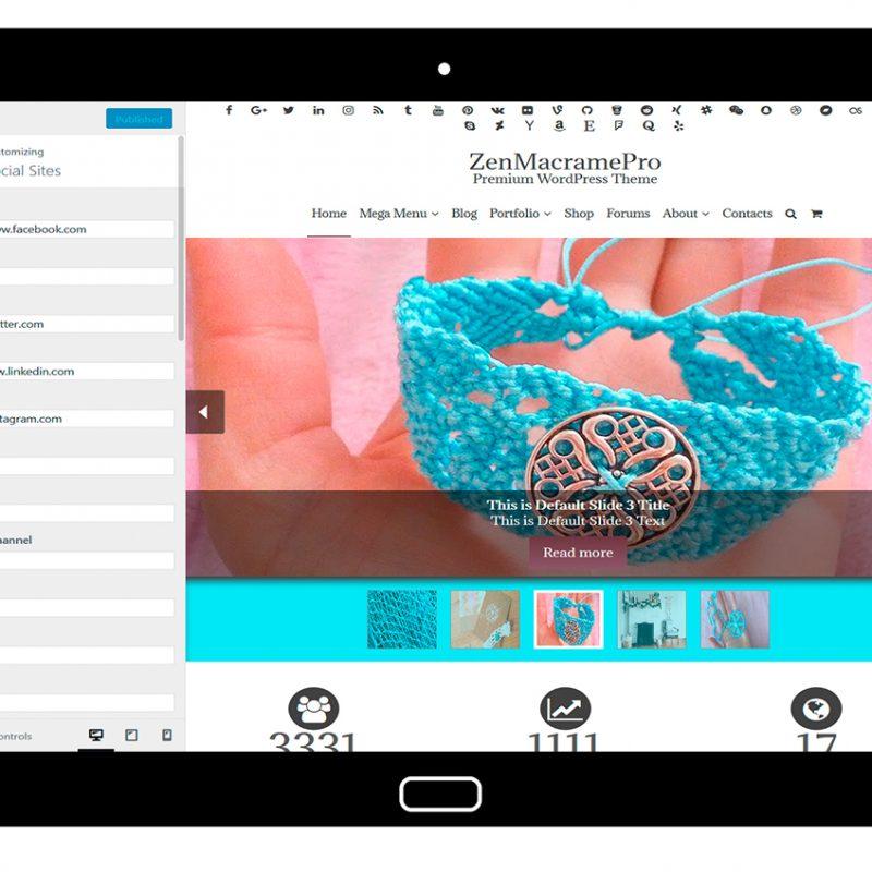 ZenMacramePro-customizing-social-sites