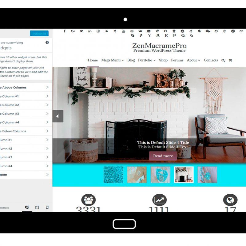 ZenMacramePro-customizing-widgets