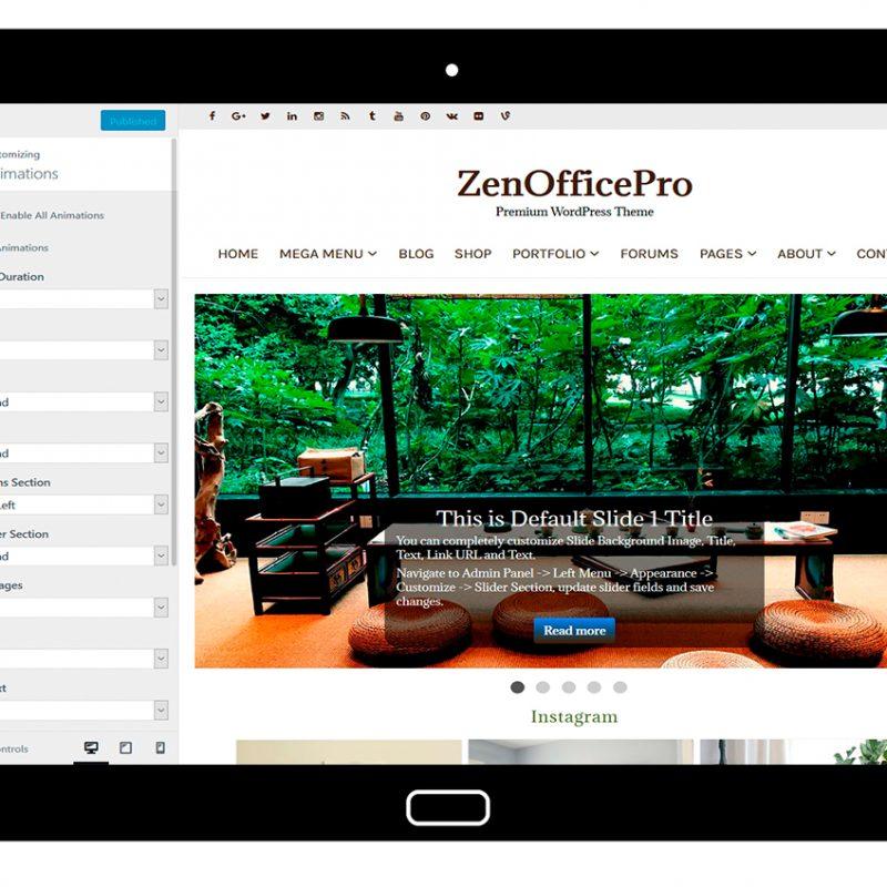 ZenOfficePro-customizing-animations