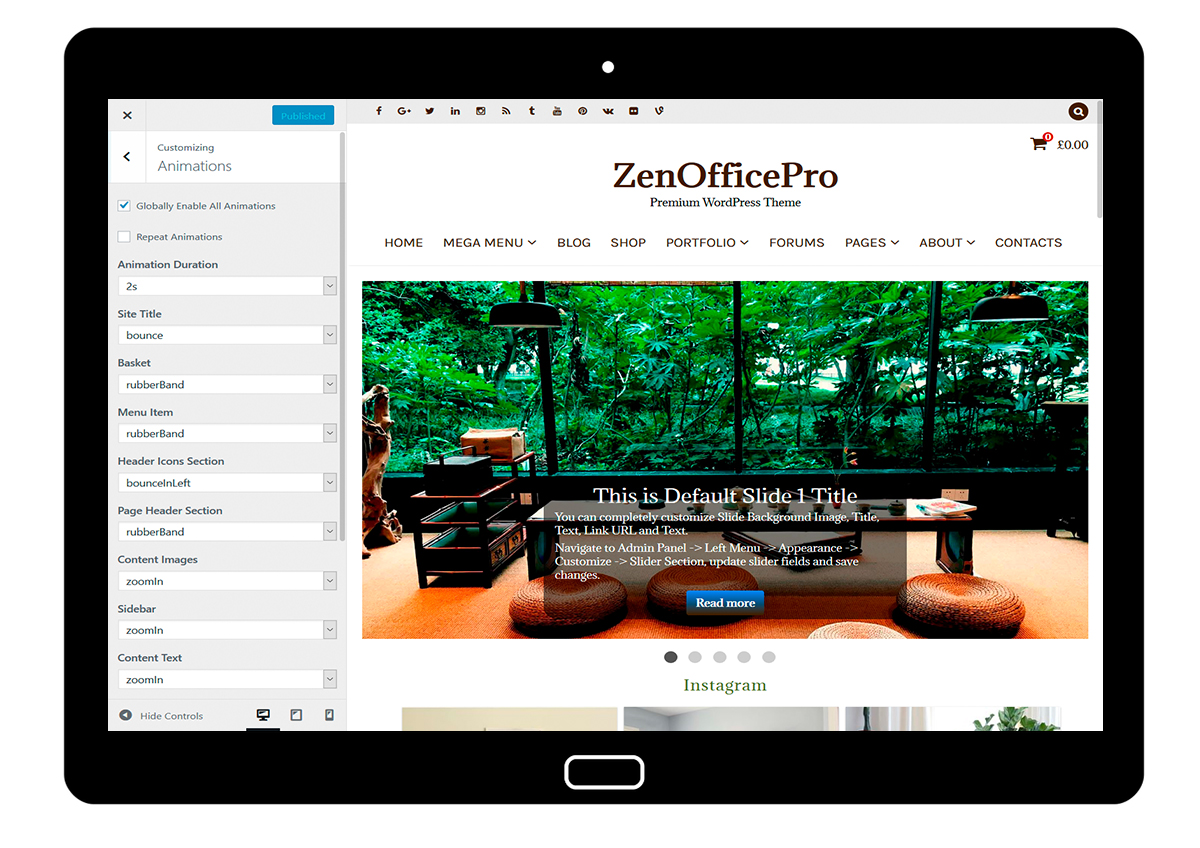 ZenOfficePro-customizing-animations