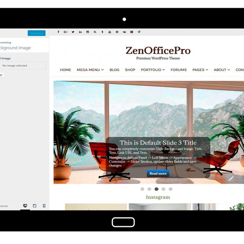 ZenOfficePro-customizing-background-image