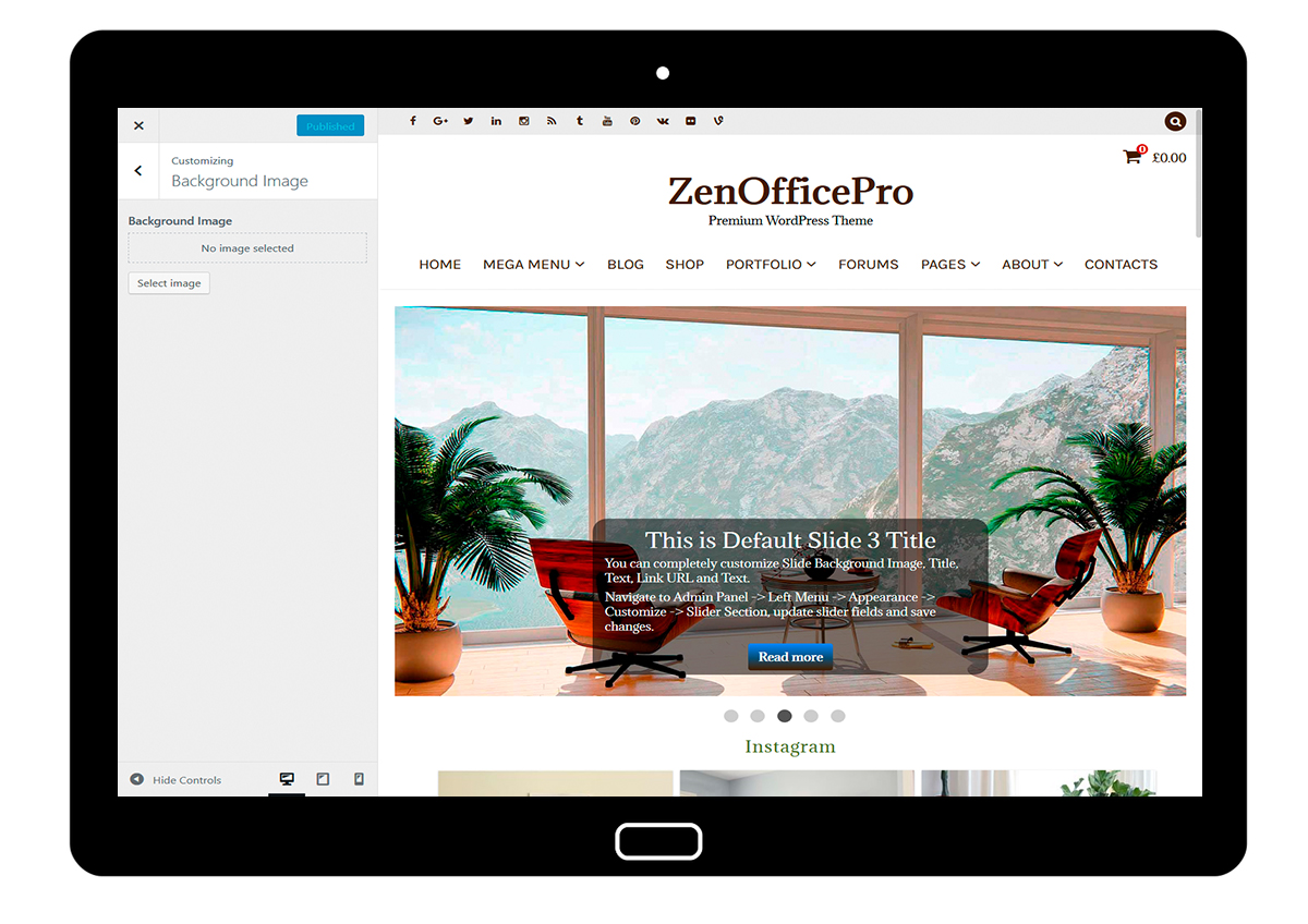 ZenOfficePro-customizing-background-image