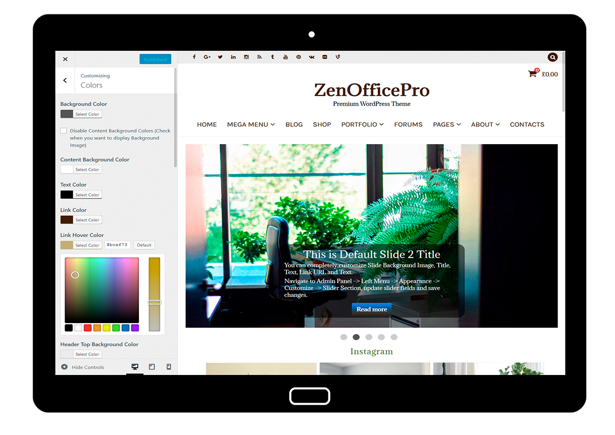 ZenOfficePro-customizing-colors