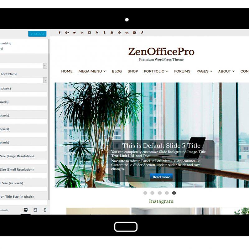ZenOfficePro-customizing-font