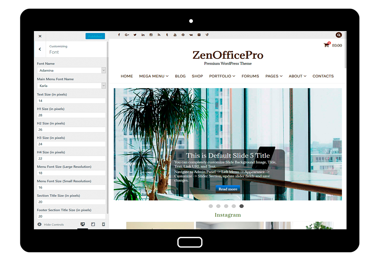 ZenOfficePro-customizing-font
