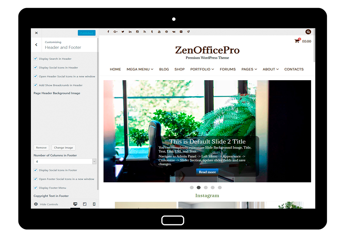 ZenOfficePro-customizing-header-and-footer