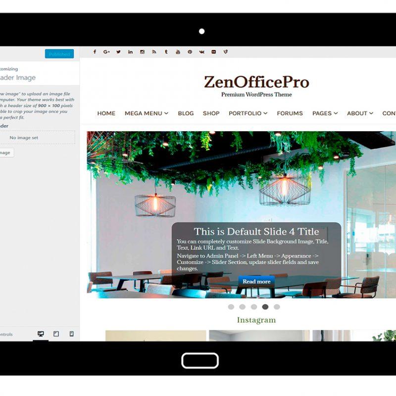 ZenOfficePro-customizing-header-image