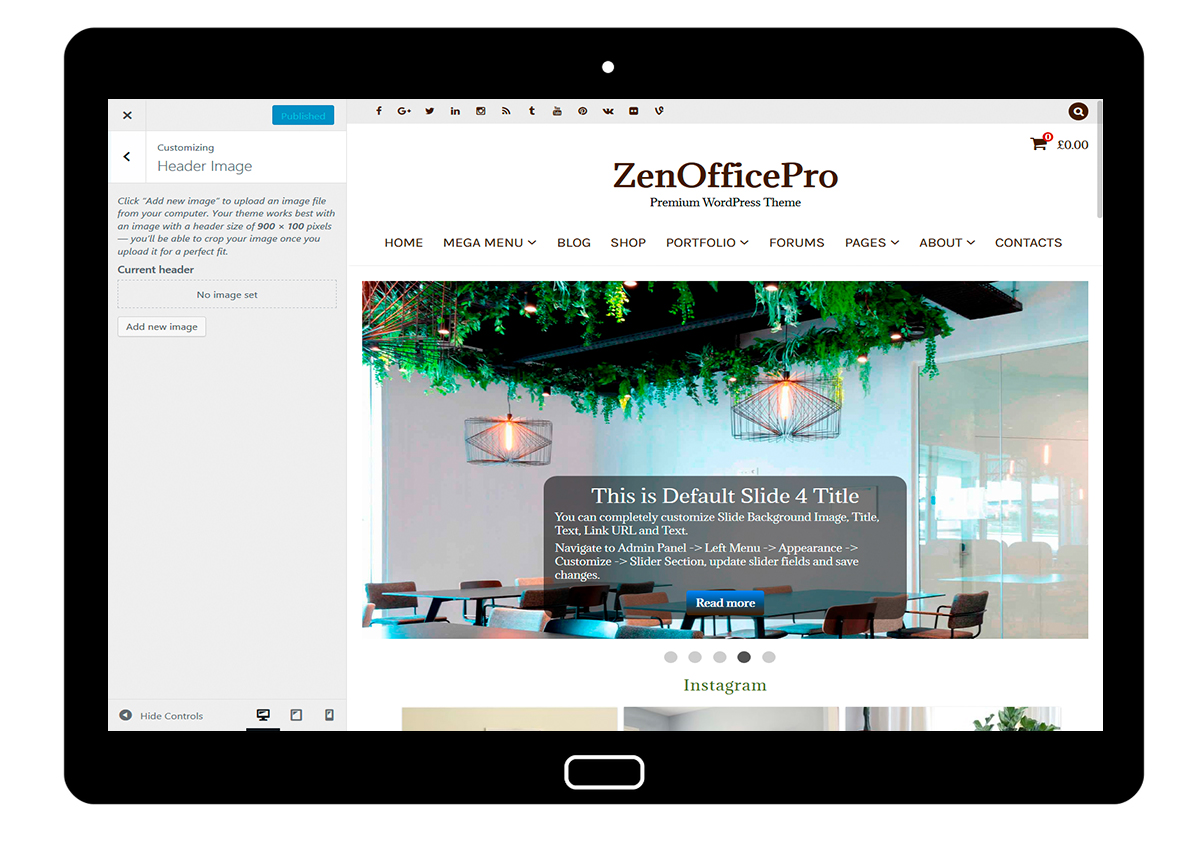 ZenOfficePro-customizing-header-image