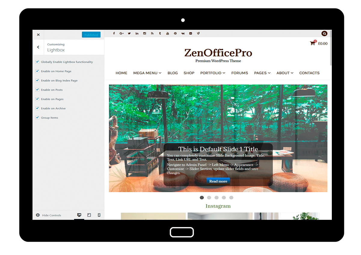 ZenOfficePro-customizing-lightbox