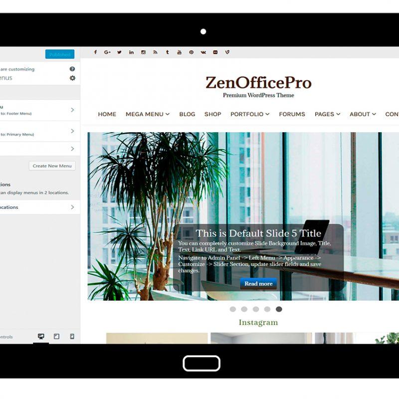 ZenOfficePro-customizing-menus
