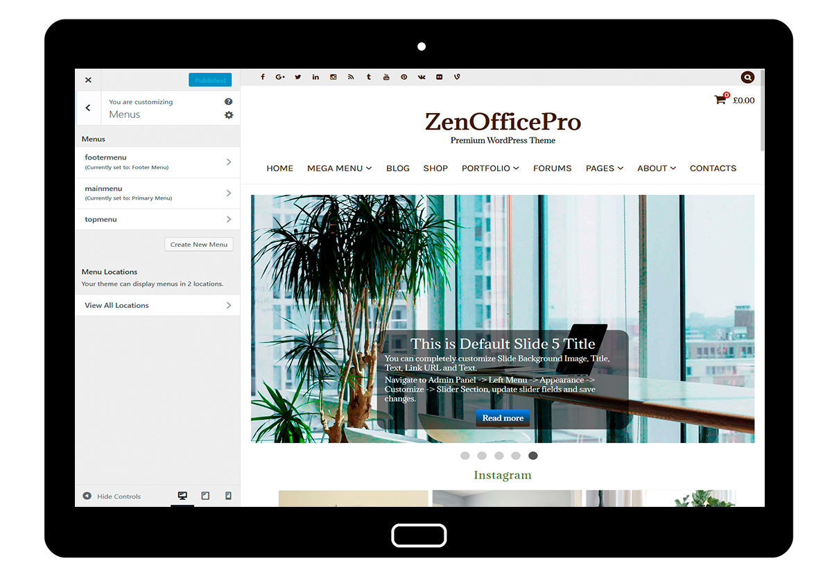 ZenOfficePro-customizing-menus