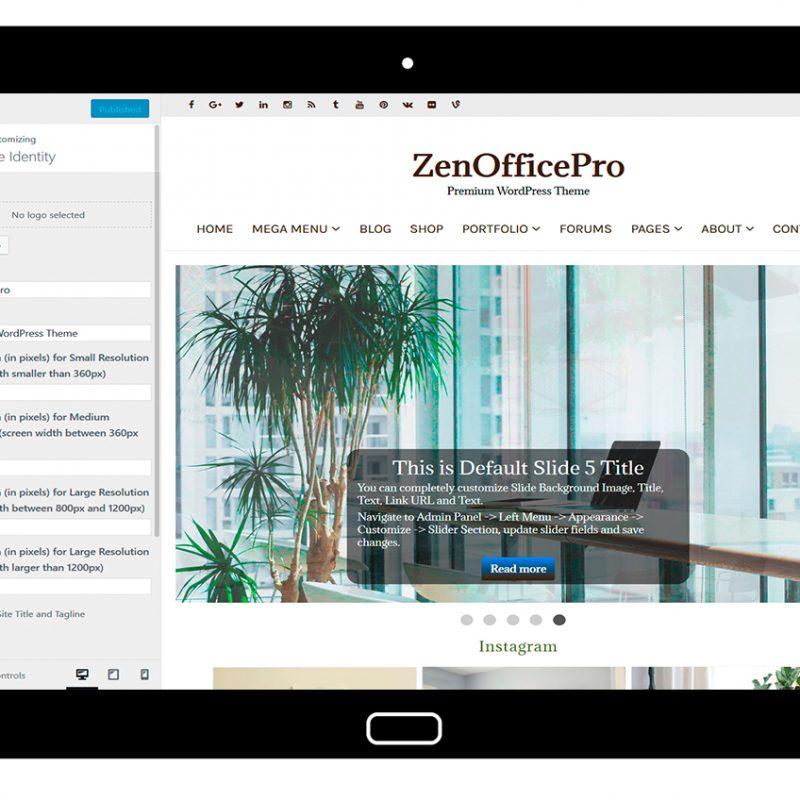 ZenOfficePro-customizing-site-identity