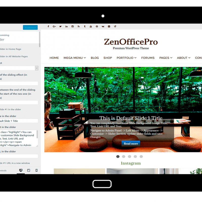 ZenOfficePro-customizing-slider