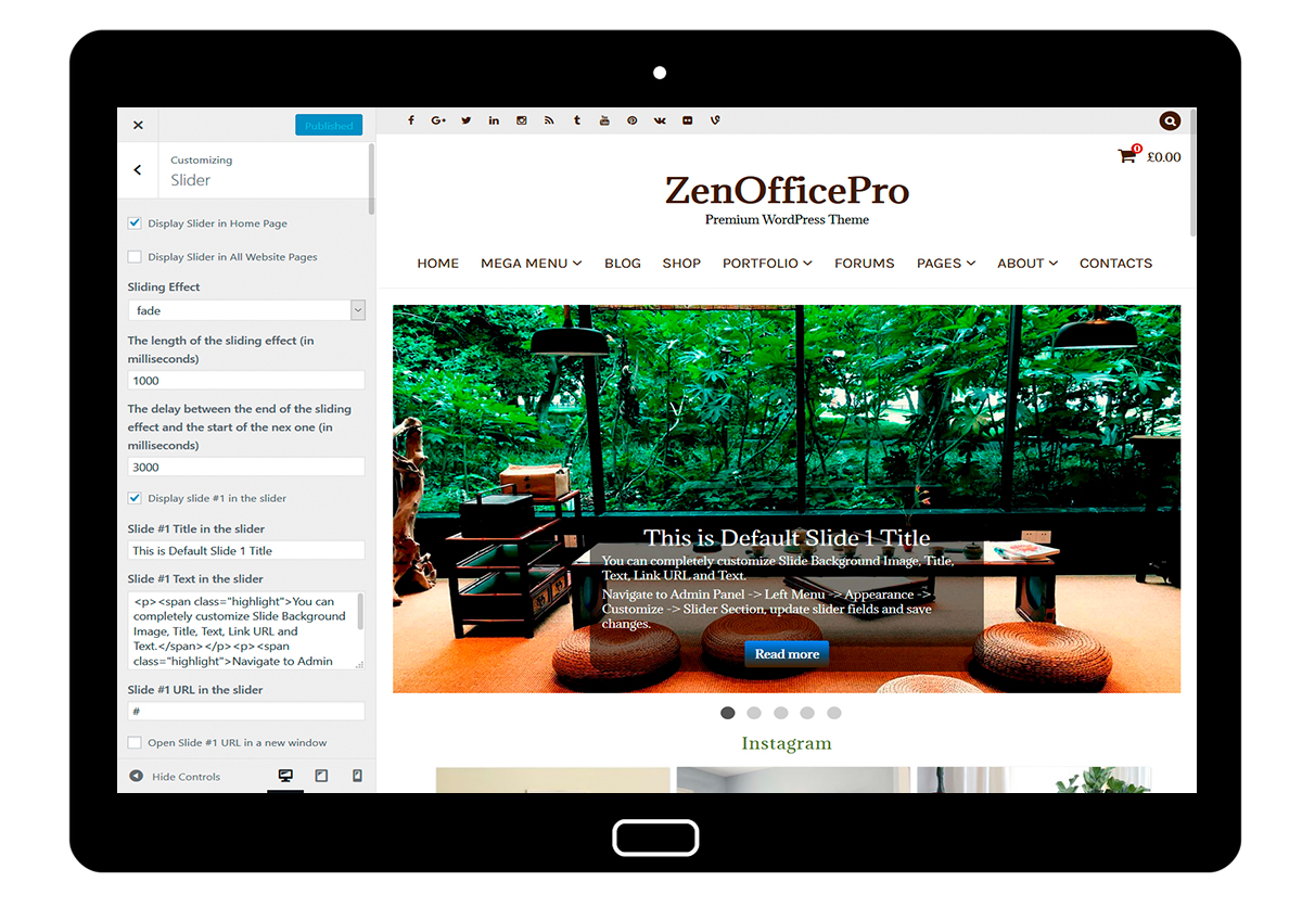 ZenOfficePro-customizing-slider