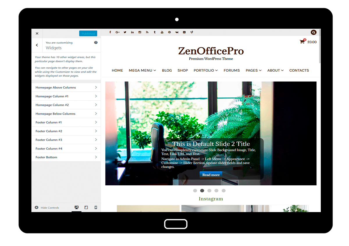 ZenOfficePro-customizing-widgets